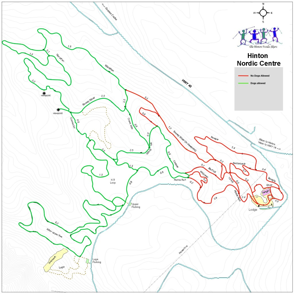 Nordic Trails Dog Access map