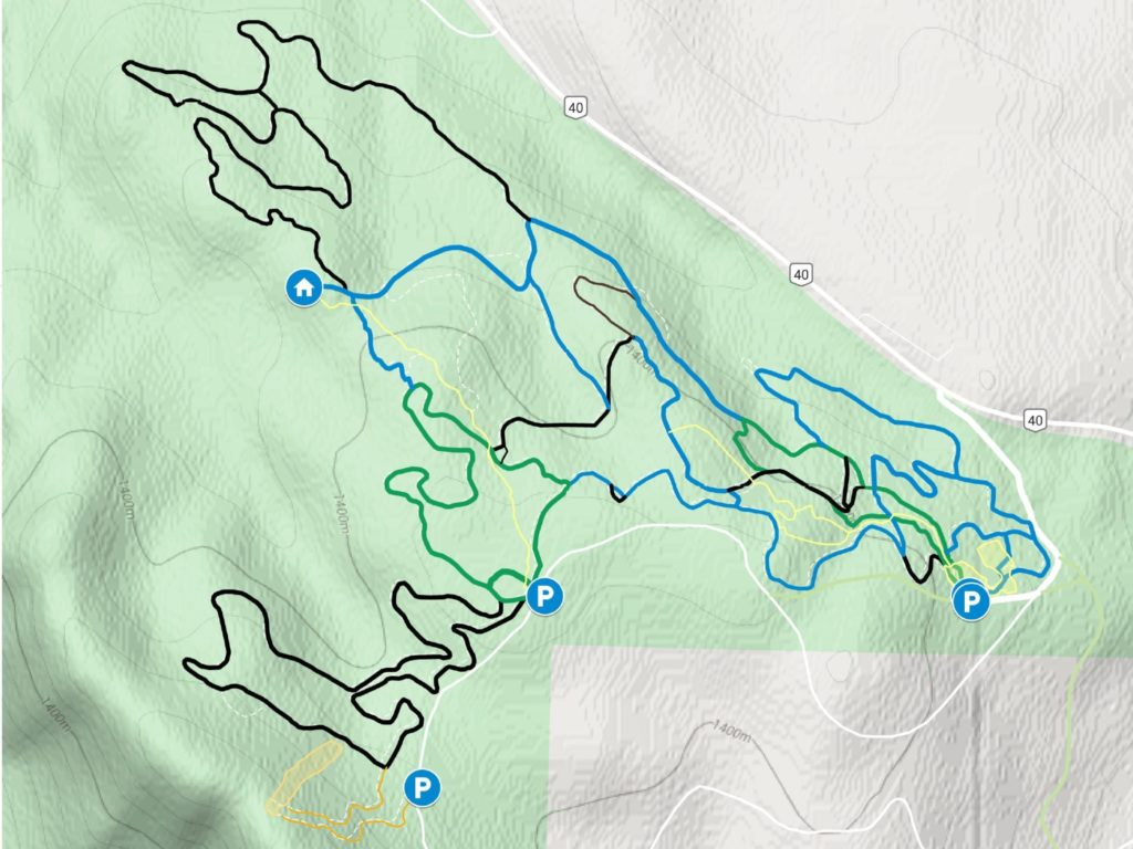 Hinton Nordic Trails in Google Maps